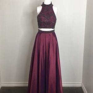 Sherri Hill 2 pc gown
